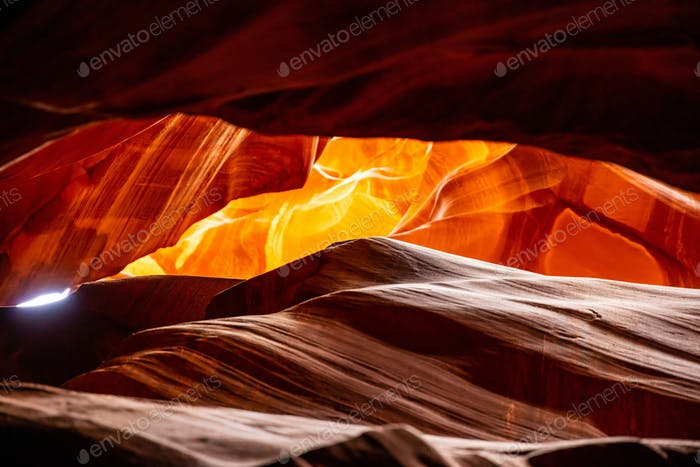 Antelope Canyon, near Page, Arizona, USA. Sandstone formations on Navajo nation