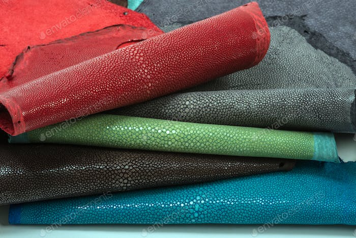 Stingray leather exotic hide in five colors