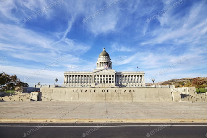 Utah state capitol building in Salt Lake City, USA