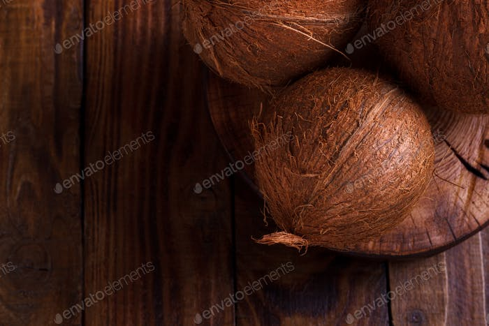Coconuts on the table