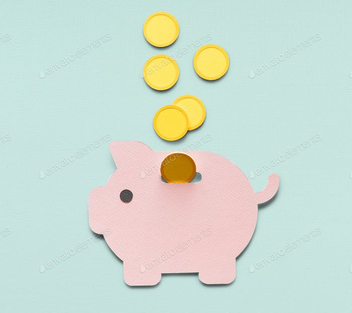 Piggy bank future money savings investment