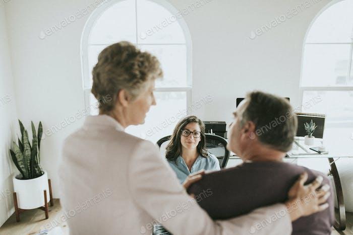 Man visiting a physician