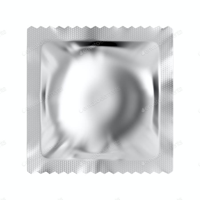 Blank condom packaging