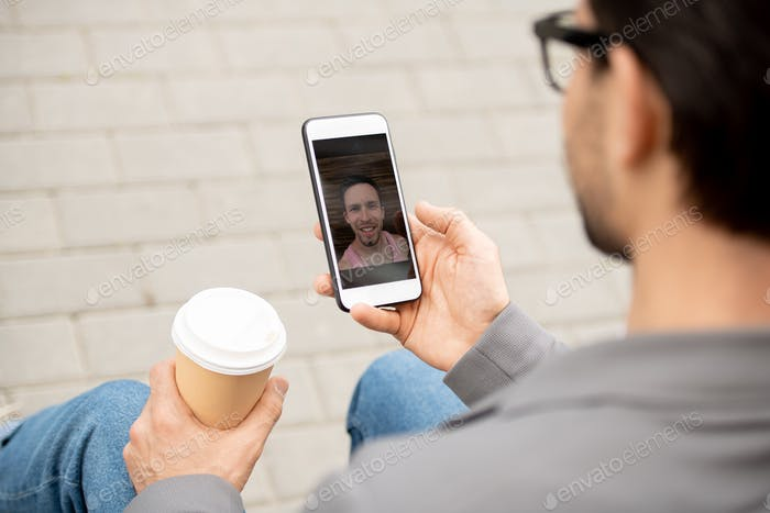Video-chat in smartphone