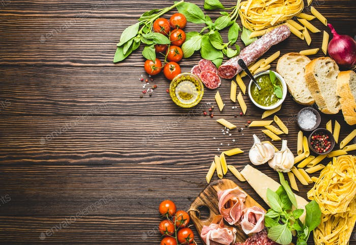 Italian traditional food, appetizers and snacks