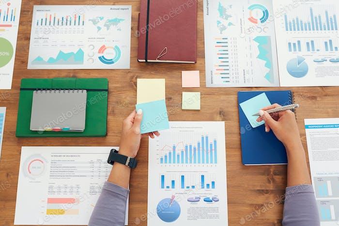 Planen von Business Flatlay-Hintergrund