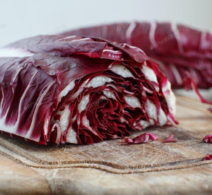 Raw red chicory