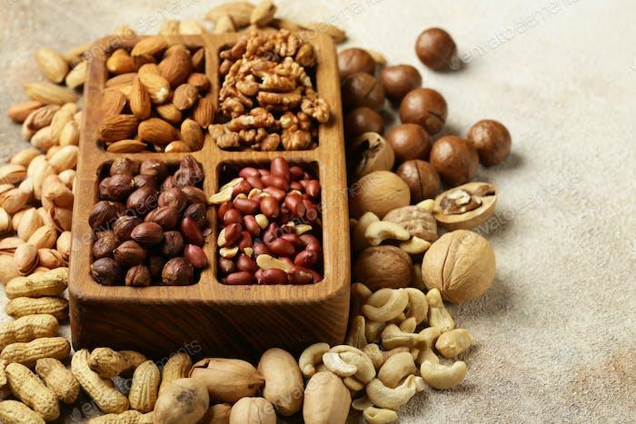Nüsse Mix für gesunde Ernährung
