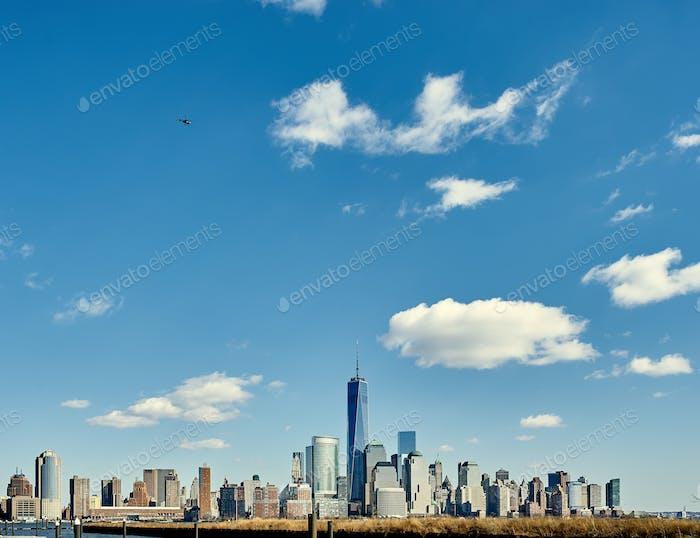 Skyline de Novedad Ciudad Manhattan