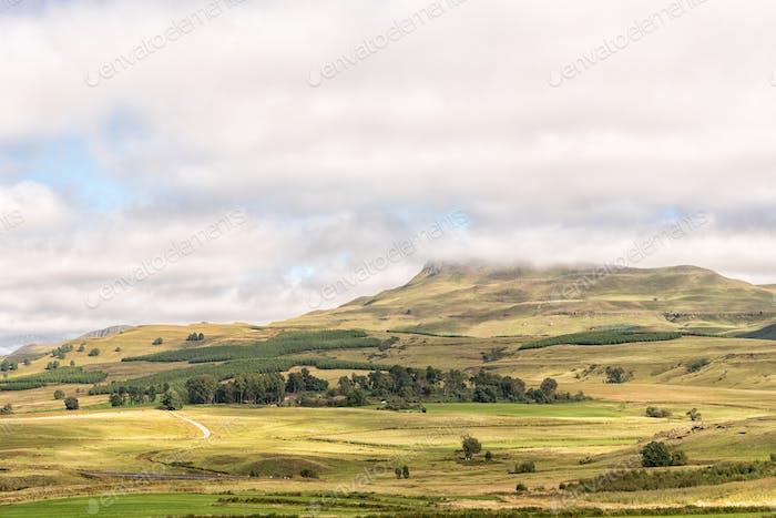 Farm landscape on the R617-road between Underberg and Kokstad