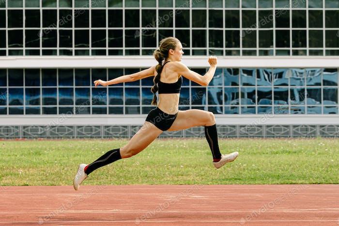 triple jump women athlete
