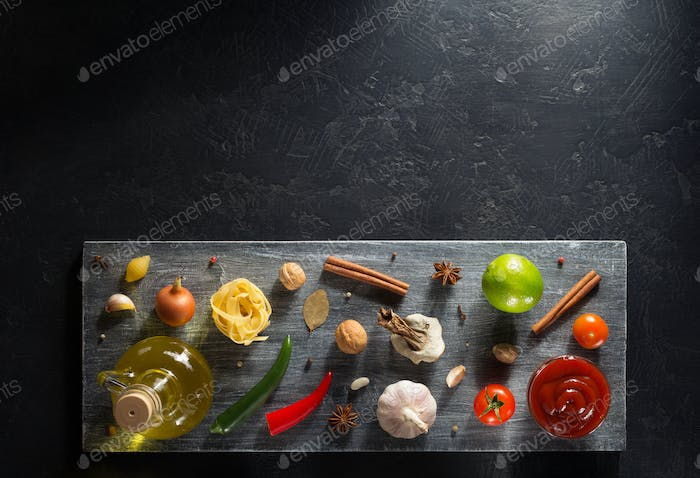 spice and herb on table