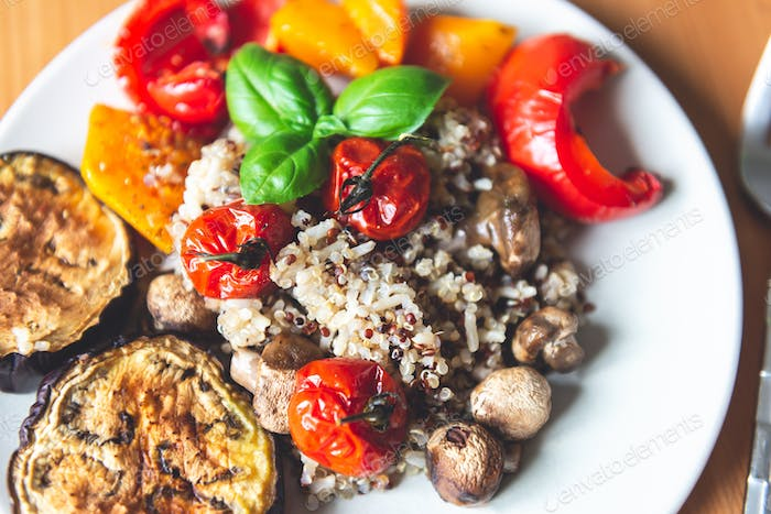 Roasted Vegetables and Quinoa