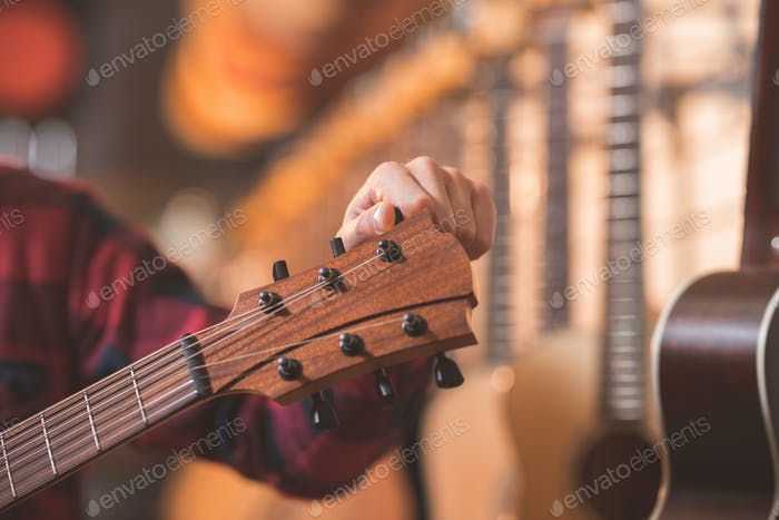Musician with a guitar