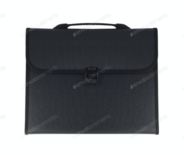 Black business briefcase