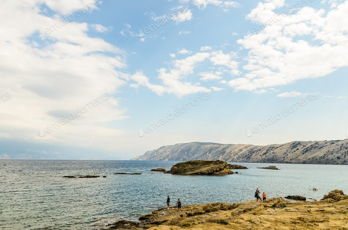 View on a beach on a rab island