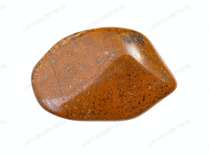 brown Tiger's eye gemstone isolated on white
