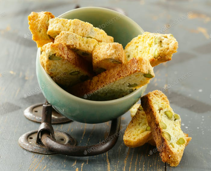 Traditional Italian Biscotti Cookie