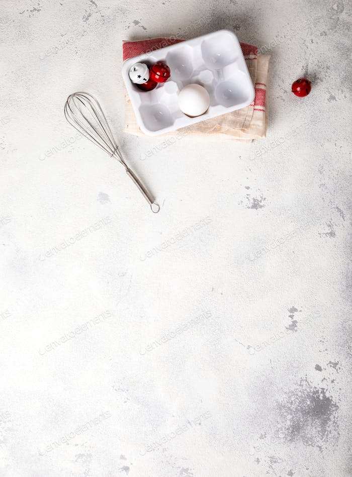 Merry Christmas.Baking Background.