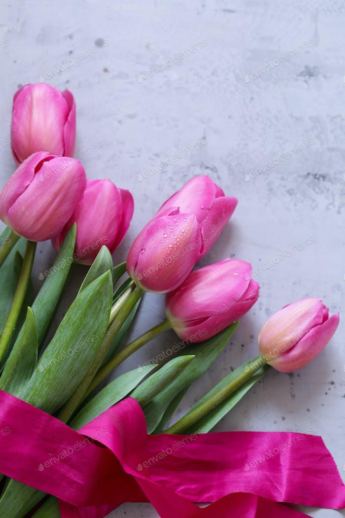Rosa Tulpen Blumenstrauß