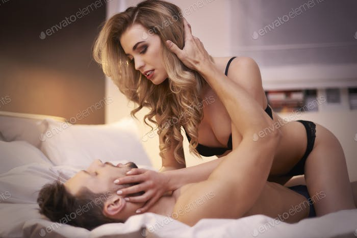 Young couple having some sexual activity