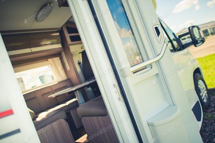 Camper Van with Doors Open