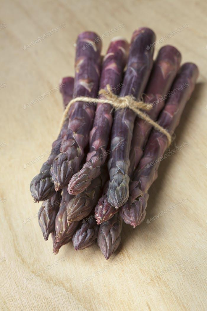 Bunch of purple asparagus