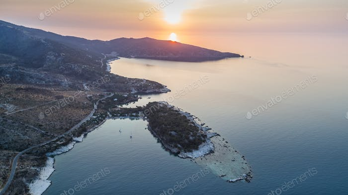 Aliki village. Thassos island, Greece