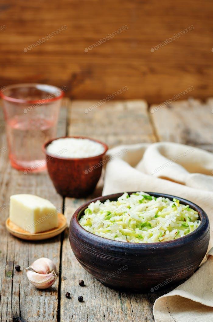 zucchini cheese rice
