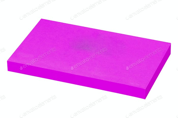 purple sticky notes isolated on white background