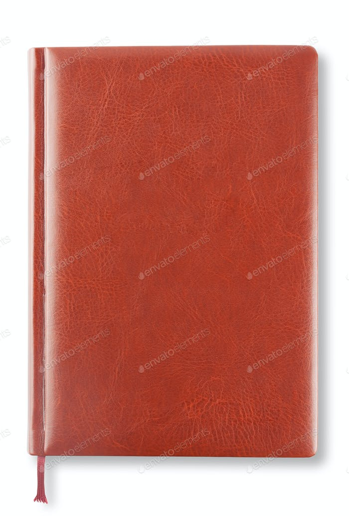 Brown leather diary