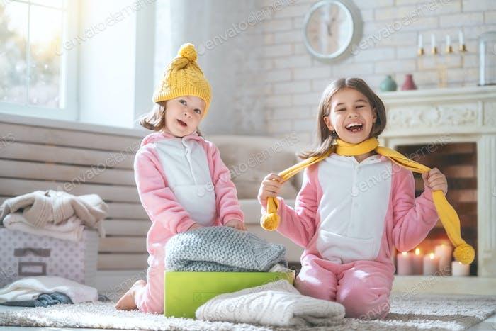 Kids enjoying the winter