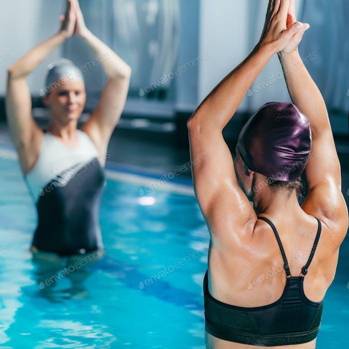 Aqua Fitness Class in the Swimming Pool.