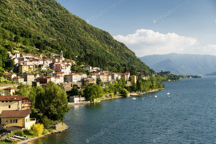 Dorio (Lecco) and the lake of Como
