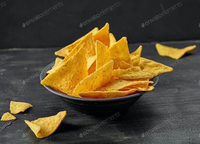 bowl of corn chips nachos
