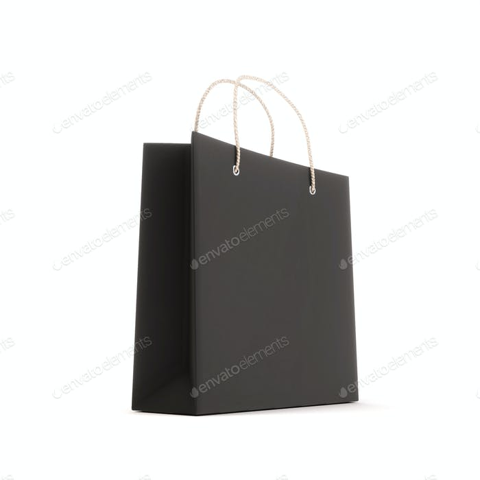 Package for purchases the black isolated on a white background