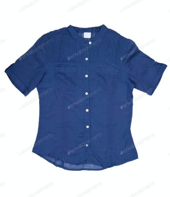 Fashionable women's blue shirt