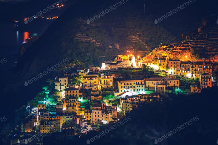 Riomaggiore Village at Night