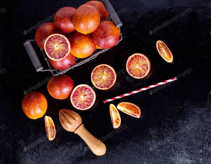 Sicilian half blood oranges