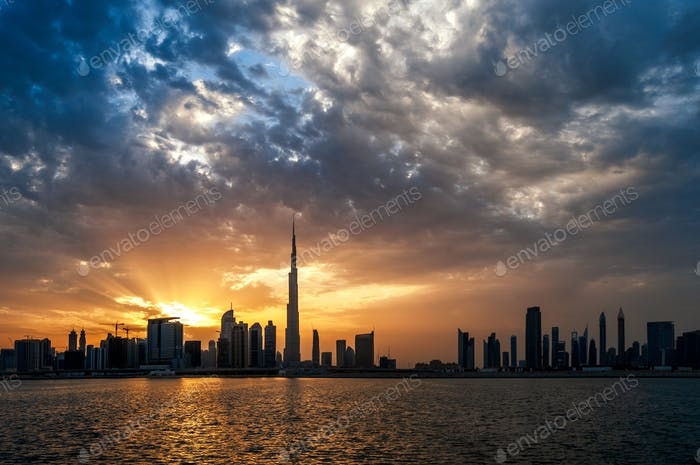 Beautiful dubai downtown skyline. Dubai, United Arab Emirates