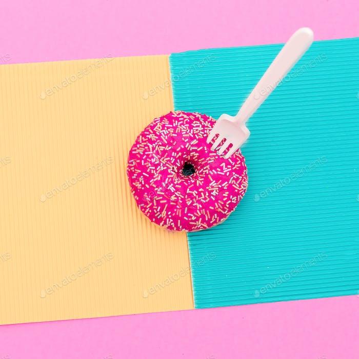 Donuts. Fast food minimal art