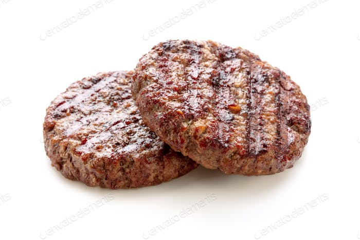 Grilled burger minced meat cutlets