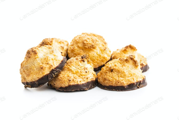 Coconut cookies with chocolate.
