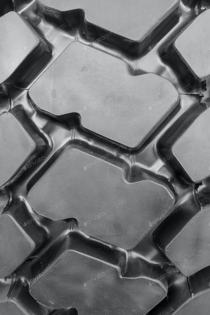 Texture of black rubber tire