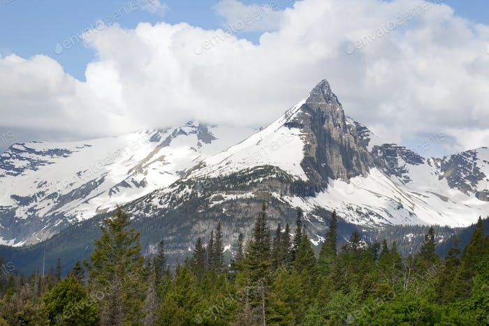 Gunsight Mountain in Glacier National Park