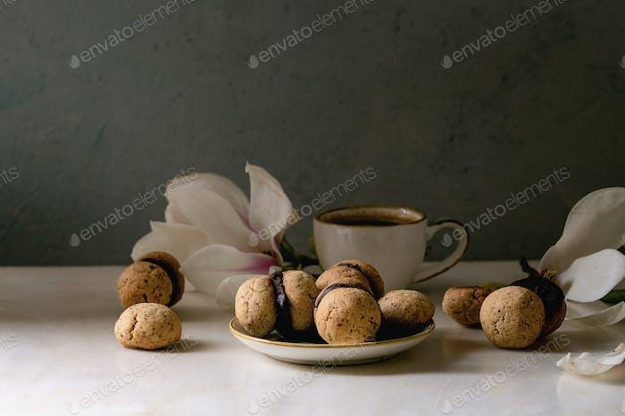 Baci di dama hazelnut biscuits
