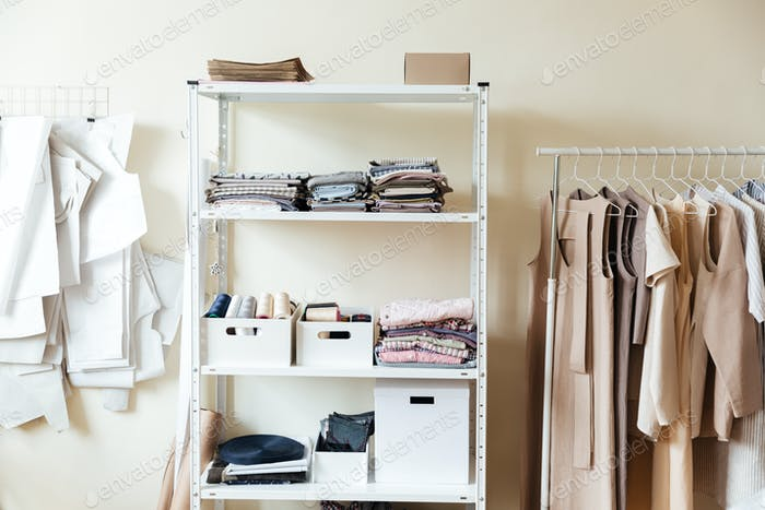 Image of clothes in workshop