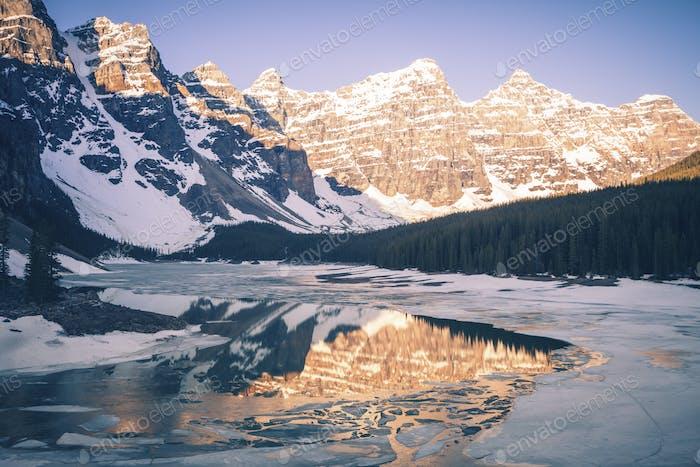 Frozen Moraine Lake In Canada Photo By Benkrut On Envato Elements