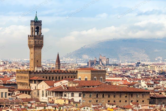 vista de Palazzo Vecchio, Florencia