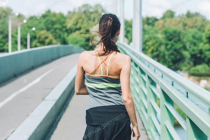 Frau Sport im Freien Porträt